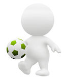 3D soccer player Royalty Free Stock Images