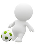 3D soccer player Stock Image