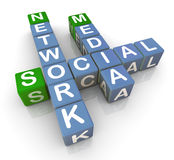 3d social media network Stock Photos