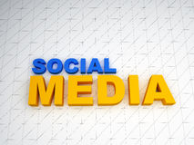 3d social media text Royalty Free Stock Photography