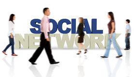3D Social network Stock Images