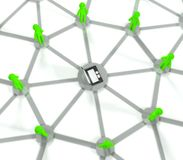 3d social network connection, internet concept Royalty Free Stock Images