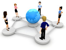 3D social networking Stock Photography