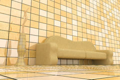 3d sofa Stock Photo