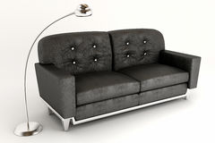 3d Sofa with Lamp Royalty Free Stock Photography