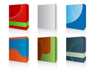 3d software box. Vector pack with six 3D software box - easy editable Royalty Free Stock Images