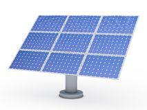 3d solar blue energy photovoltaic Royalty Free Stock Photography