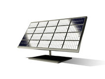 3d solar cell. 3d  solar cell o the white background Royalty Free Stock Photography