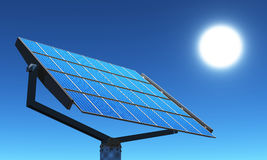3D solar cells 06. 3D solar cells with white sun Royalty Free Stock Photo