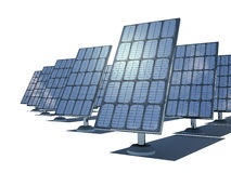 3d  solar cells. On the white background Stock Image