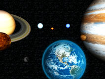 3D Solar System Royalty Free Stock Photo