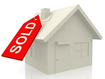 3D Sold house Royalty Free Stock Image