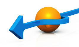 3D - solution blue orange 09 Stock Photography
