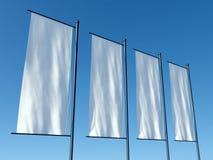 3d som annonserar affischtavlor, tömmer flaggor vektor illustrationer