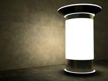 3d som annonserar natt för blank kolonn Royaltyfri Fotografi
