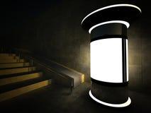 3d som annonserar natt för blank kolonn Arkivbilder