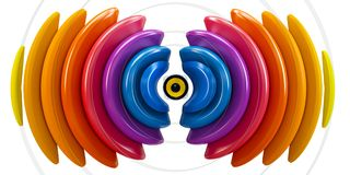 3d sound wave with speaker Royalty Free Stock Image