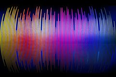 3d sound waves spectrum background Stock Image