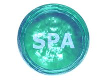 3D-SPA Button Stock Image