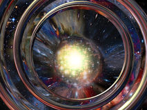 3D space abstract Royalty Free Stock Images