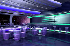 3D spaceship. 3D rendering of a spaceship Stock Images