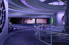 3D spaceship Royalty Free Stock Image