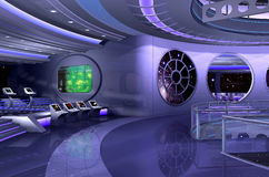 3D spaceship interior Royalty Free Stock Images