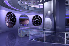 3D spaceship or ufo Stock Images