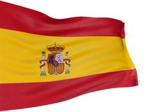 3D Spanish flag royalty free illustration