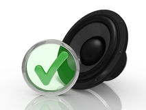 3d speaker Royalty Free Stock Images