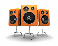 3D  speakers Stock Photo