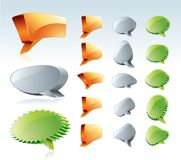 3D Speech Bubble. With Various Shapes Royalty Free Stock Photos
