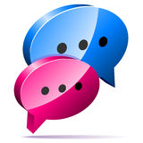 3D speech bubbles Royalty Free Stock Photo