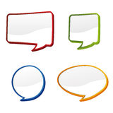 3d speech bubbles. Set of four 3d speech bubbles royalty free illustration