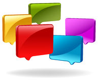 3d speech bubbles. Design of 3d speech bubbles stock illustration