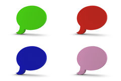 3d Speech Bubbles Stock Images