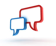 3D speech bubbles. Speech bubbles. 3D generated image Royalty Free Stock Photography