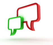 3D Speech bubbles. Speech bubbles. 3D generated image Stock Photography