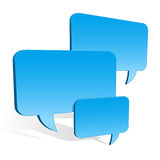3d speech bubbles collection hovering Stock Images