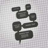 3D Speech Bubbles Design. Dark 3D Speech Bubbles Design vector illustration