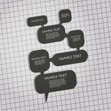 3D Speech Bubbles Design Stock Photo