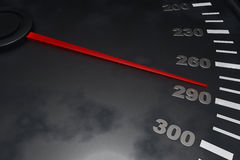 3D Speedometer. Three dimensional speedometer background up to the limit Royalty Free Stock Photo