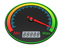 3D Speedometer Stock Photo
