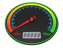 3D Speedometer Stock Images