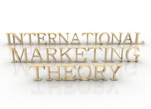 3d spelling international marketing theory Stock Photo