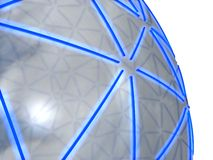3D sphere. A 3D sphere with blue lines Stock Images