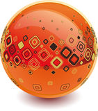 3d sphere. 3d Color vector sphere with fashion ornament Royalty Free Stock Photography