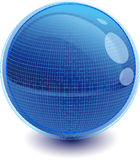 3d sphere. 3d Color vector sphere with fashion ornament Stock Image