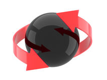 3d sphere and arrows Stock Images