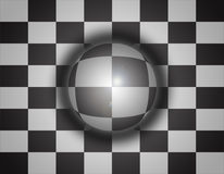 3d sphere background chess Stock Photos